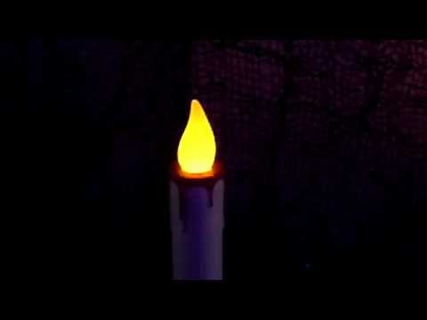 TWO Dripping Blood White Candles Halloween Flameless Candle Prop