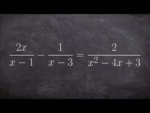 Learn how to solve a rational equation and check your solutions