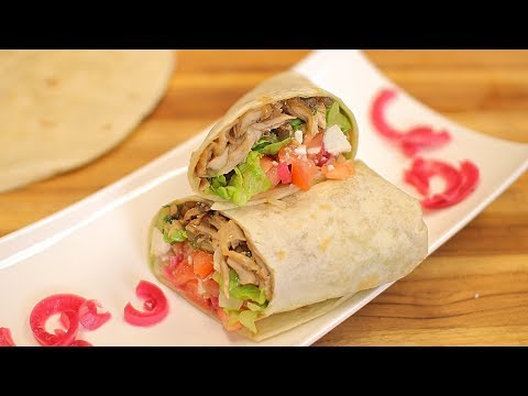Leftover Chicken Wrap Recipe -  grilled chicken - easy chicken recipes - how to make chicken