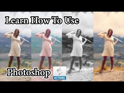 How to Import and Use an Action ATN .atn File in Adobe Photoshop CS5 CS6 CS