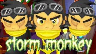 Bloons Super Monkey 2: New Super Monkey - Storm Monkey Gameplay!