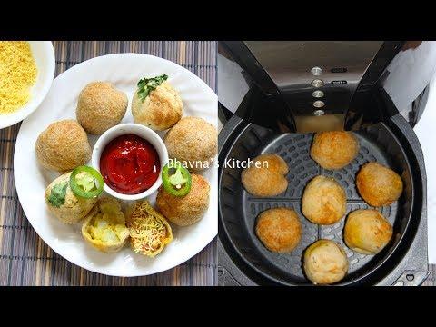 Air Fryer Cheesy Potato Stuffed Bread Balls - Aloo Bread Bonda Vada Video Recipe | Bhavna's Kitchen