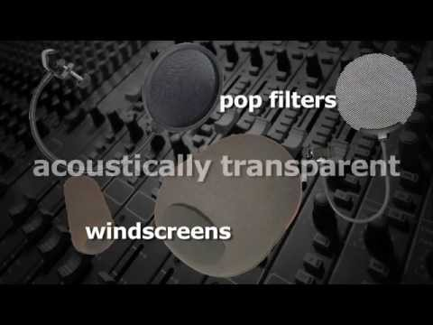 Windscreens and Pop Filters