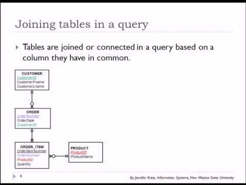11 of 15 SQL Basics with Oracle - Using two or more tables in a query
