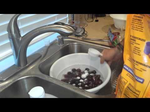 Removing pesticides from fruits and vegetables!