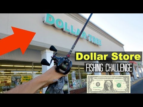 Dollar Store Fishing Challenge!! (Surprising!)
