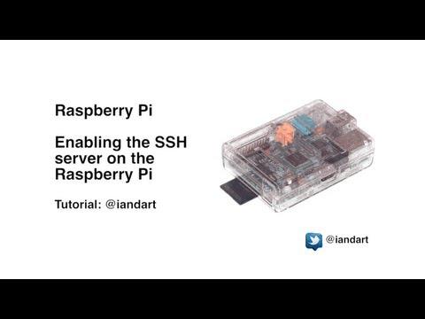 Enable a SSH server on a Raspberry Pi