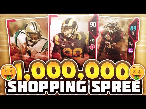 1 MILLION COIN SHOPPING SPREE! BUYING INSANE PLAYERS! MADDEN 18 ULTIMATE TEAM