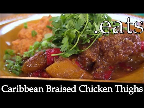 Caribbean Braised Chicken Thighs - Chef Michael Smith Recipes