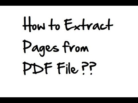 How to extract pages from PDF files in Adobe Acrobat Reader