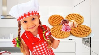 Download Diana Pretend Cooking With Cute Kitchen toys Video