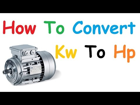 How To Convert Kw To Hp,