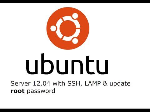 How to install Ubuntu server 12.04 and update root password