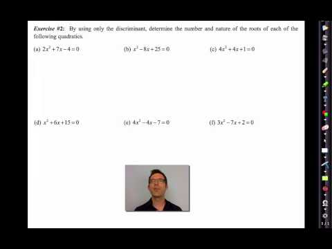 Common Core Algebra II.Unit 9.Lesson 4.The Discriminant of a Quadratic