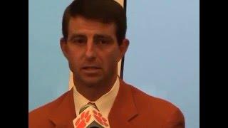 TigerNet.com - Dabo Swinney emotional as he is named Clemson head football coach