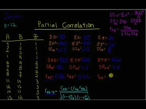 Partial Correlation: Part 1 - Calculating