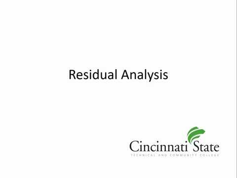 Residual Analysis Part 1