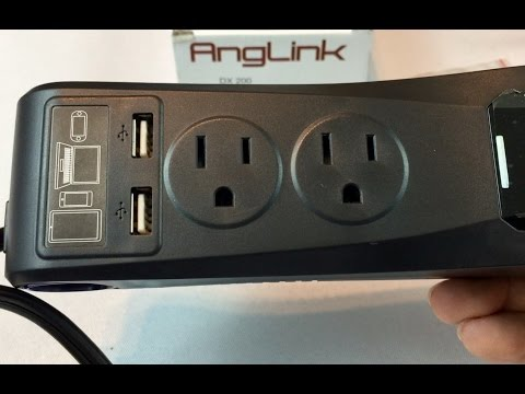 200W Car Power Inverter Converter with 2 AC Outlets and 4.8A Dual USB Ports Car Charger by Anglink