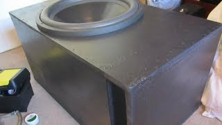 Sub Woofer Enclosure L For 1 18 Inch Sub L 51 Cubic Feet Tuned To 31