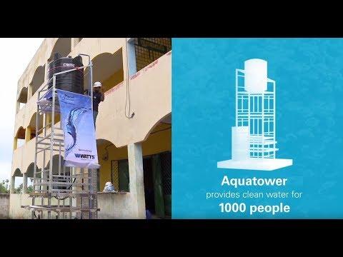 Planet Water Foundation & Watts Build an AquaTower in Nelekuppam, India