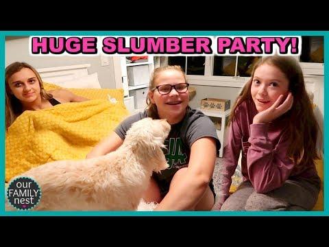 BIGGEST SLUMBER PARTY EVER!