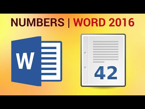 How to Insert Page Numbers in Word 2016