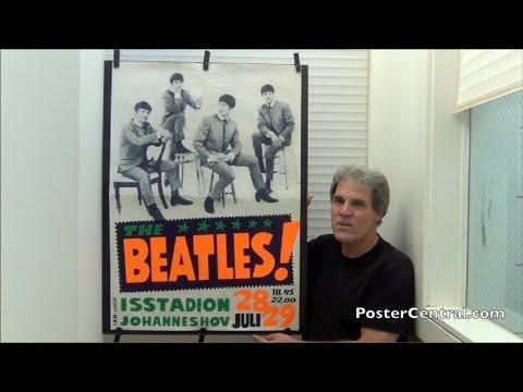 Beatles Day-Glo Concert Poster 1964 Stockholm Sweden