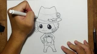 รีบอร์น (reborn) จาก การ์ตูน ครูพิเศษจอมป่วน รีบอร์น | สอนวาดรูป | วาดการ์ตูน กันเถอะ