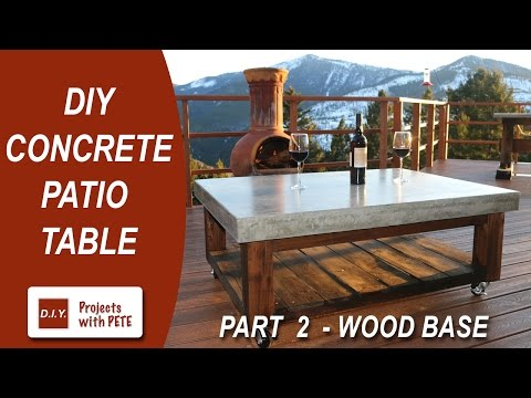 Part 2. How to make a Concrete Coffee Table for the Patio (Wood Base)