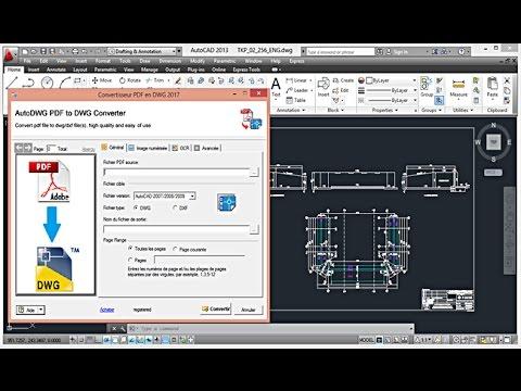 تحميل وتثبيت برنامج تحويل الملفات منAutoDWG PDF to DWG Converter 2017 |  DWG ← PDF