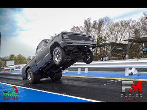 Truck Norris Doing A Big Wheelie. (4k)