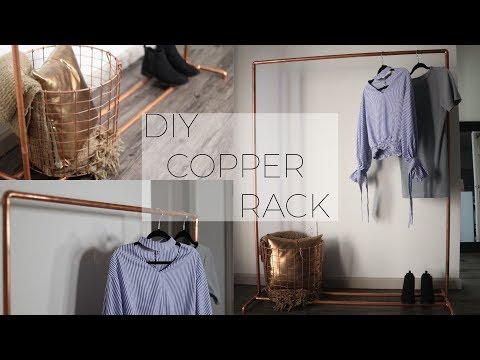 DIY Copper Pipe Clothing Rack!!    TheAdeTomi