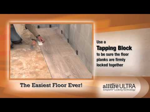 How to Install Allure Ultra SimpleFit Flooring - Official