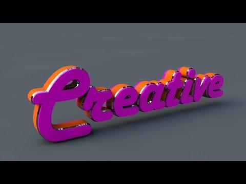 3D Text Tutorial   In Cinema 4D   Hindi / Urdu