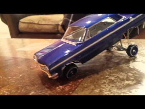 64' impala lowrider model car hopper.