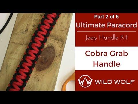 Ultimate Paracord Jeep Handle Kit-Part 2 – Cobra Grab Handle