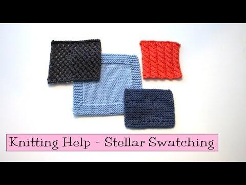 Knitting Help - Stellar Swatching