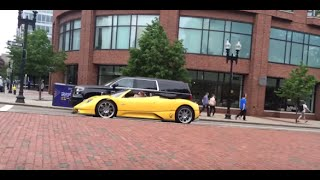 Pagani Roadster driving on US streets HD