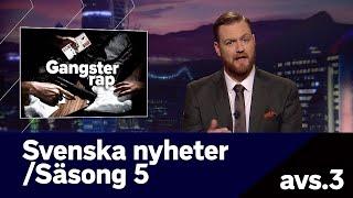 Svenska nyheter - hela inslaget om gangsterrap