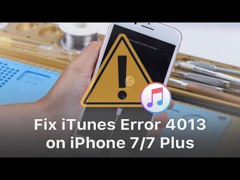 How to Fix iTunes Error 4013 on iPhone 7/7 Plus