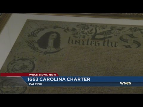 'Birth certificate' of NC on display in Raleigh