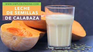 Bebida Vegetal De Semillas De Calabaza | Con Semillas Enteras Crudas | Receta De Aprovechamiento