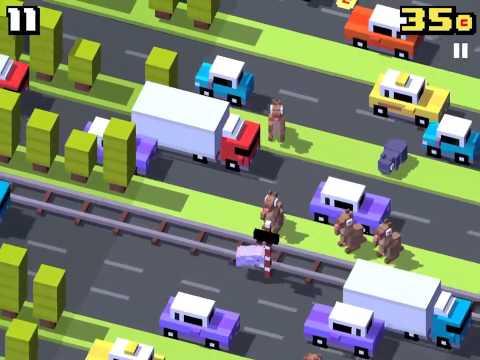 [Crossy Road] Secret Gameplay- Nessie with Disco Zoo!