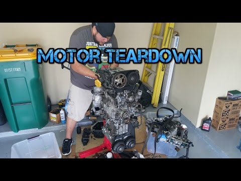 Car Build: 96 Subaru Impreza WRX STi Ep. 3 - Motor Teardown