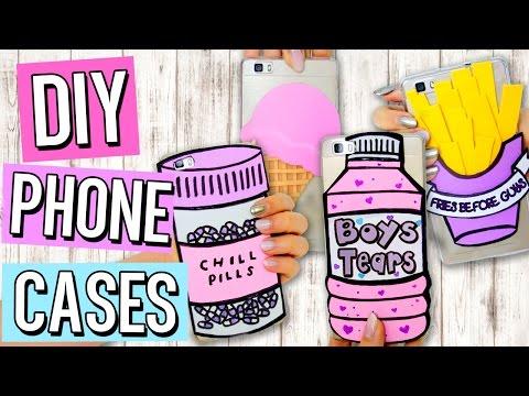 DIY Tumblr PHONE CASES | Cute & Easy Designs! Inexpensive Iphone Case Ideas!