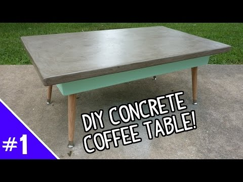 DIY Ardex Concrete Coffee Table - (Part 1 of 2)