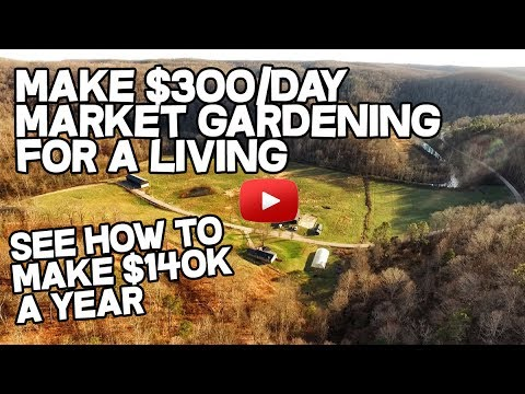 Make $300/day Market Gardening for a living, How to Make your Small Farm profitable, Farmers Market