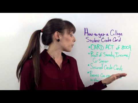 How To Get A College Student Credit Card