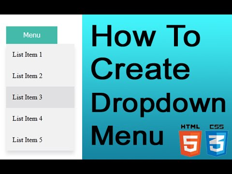 How To Create Dropdown Menu With CSS