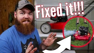 How To Fix A Soap Filled Lawn Mower!